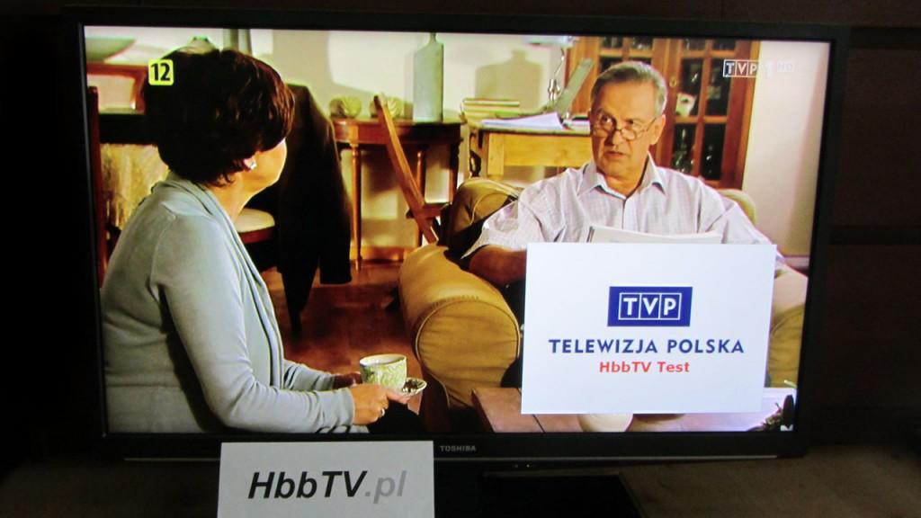 Test HbbTV na kanale TVP1 HD w DVB-T