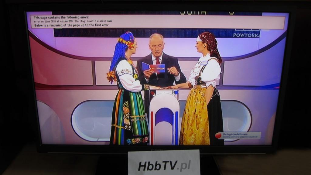 Błąd w aplikacji HbbTV od TVP