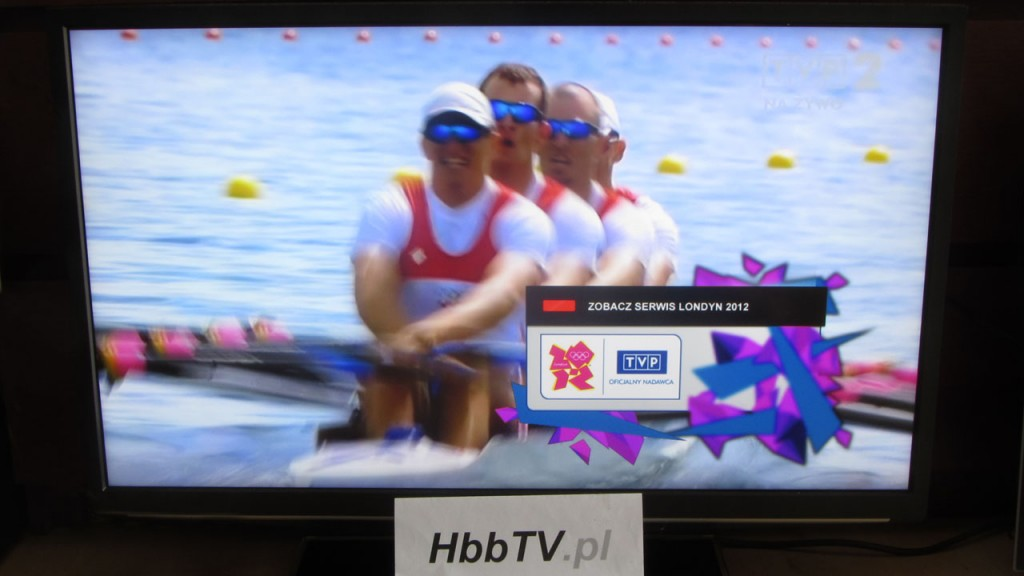 Serwis Londyn 2012 w HbbTV od TVP