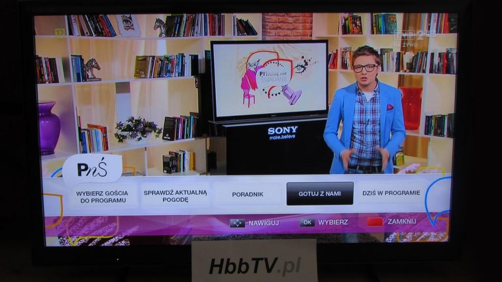 Pytanie na śniadanie - platforma hybrydowa TVP w HbbTV.