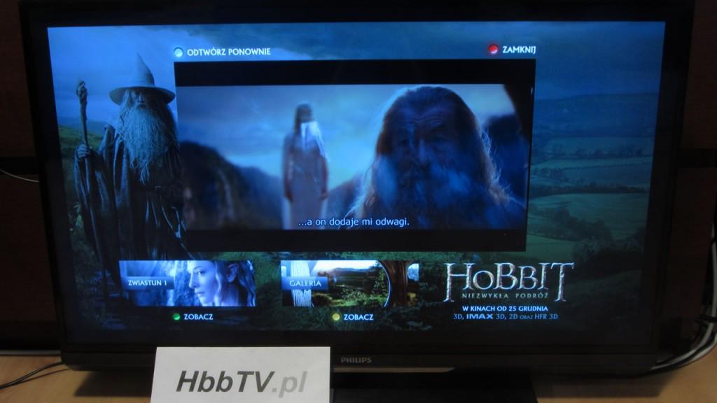 Hobbit - reklama hybrydowa w HbbTV