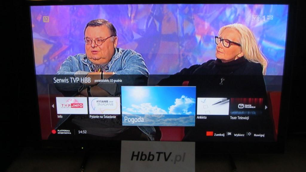 """Aplikacja """"Pogoda"""" w Serwisie TVP HBB"""