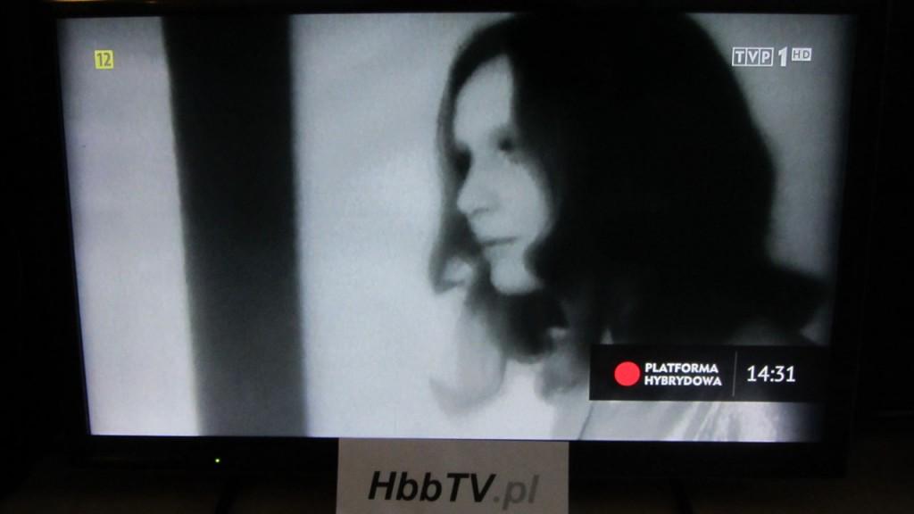 Informacja o dostępności serwisu HbbTV w TVP.