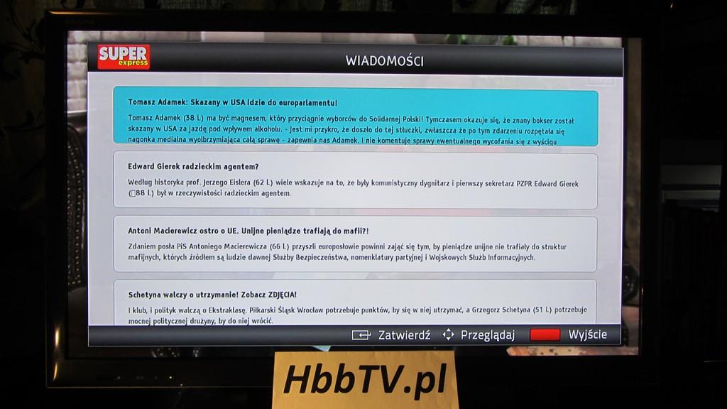 Super Express w HbbTV na Fokus TV