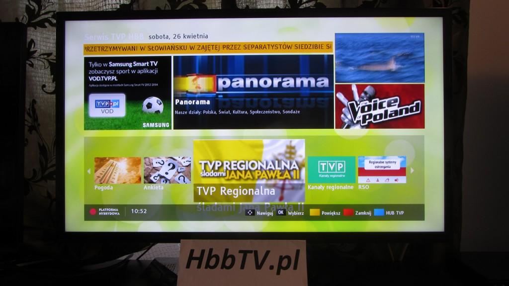 HbbTV - TVP Regionalna Śladami Jana Pawła II - Hub TV