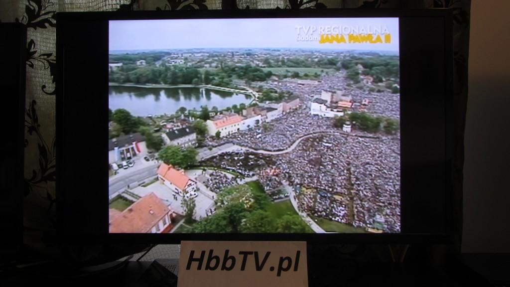 HbbTV - TVP Regionalna Śladami Jana Pawła II - streaming na pełnym ekranie