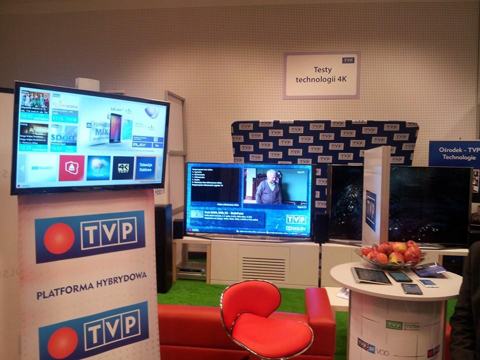 Stoisko TVP z Platformą hybrydową na konferencji PIKE w Toruniu 2015