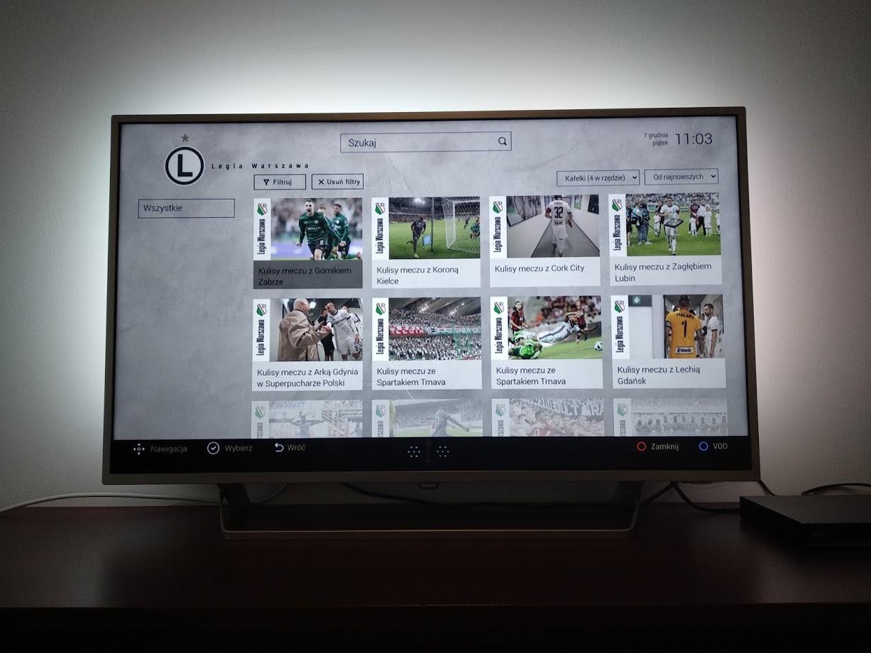 aplikacja HbbTV Legia