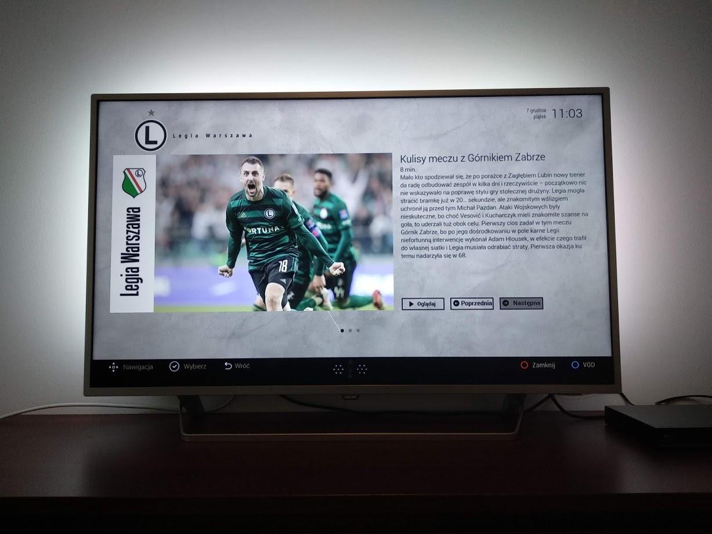 aplikacja hybrydowa Legia- szczegół