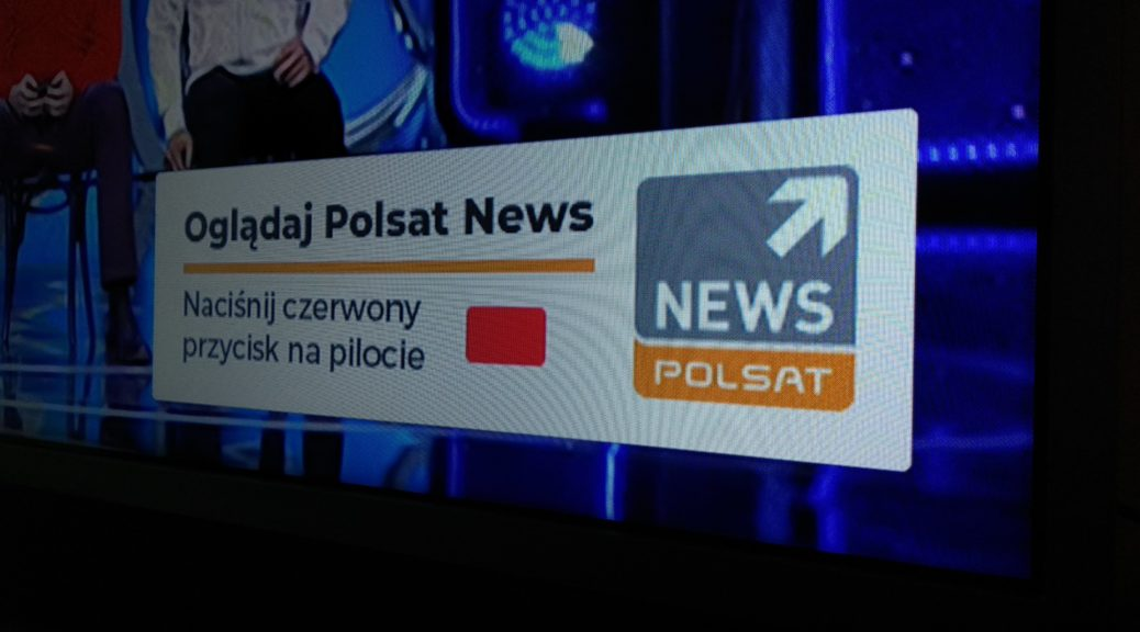 Aplikacja HbbTV Polsat News - teaser